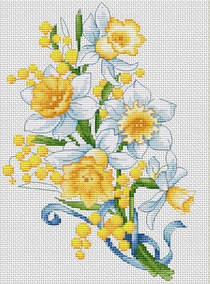 Daffodils Cross Stitch Kit By Luca S