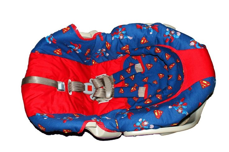 Superman Carseat cover Set. $65.00, via Etsy.