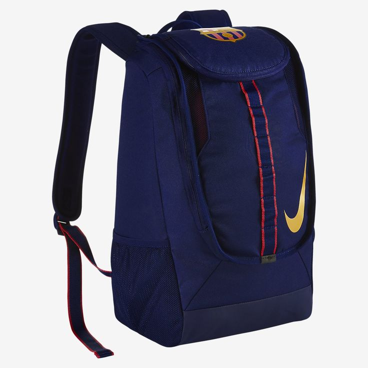 The FC Barcelona Allegiance Shield Compact soccer backpack adorned with a striking logo for a loyal look. Padded shoulder straps and multiple compartments provide comfortable portability and various storage options. PROS Large main compartment with two zippers which you can safely store your stuff Z…