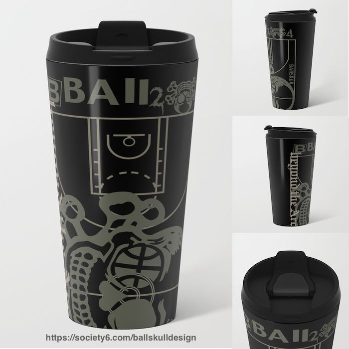 Bring your own Unique travel Mug. Reduce waste, make friends.☕️ #travelmug #mug #BAllSKUll #toDiefor #bball #2die4 #beyondthearc #3points  #design #basketball #ball #hoop #skull #skullicious #バスケ #バスケットボール #スカル