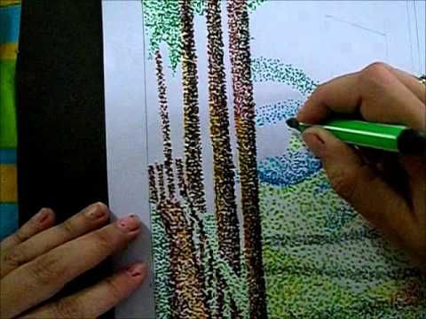 Art Lessons for Kids: Pointillism - YouTube