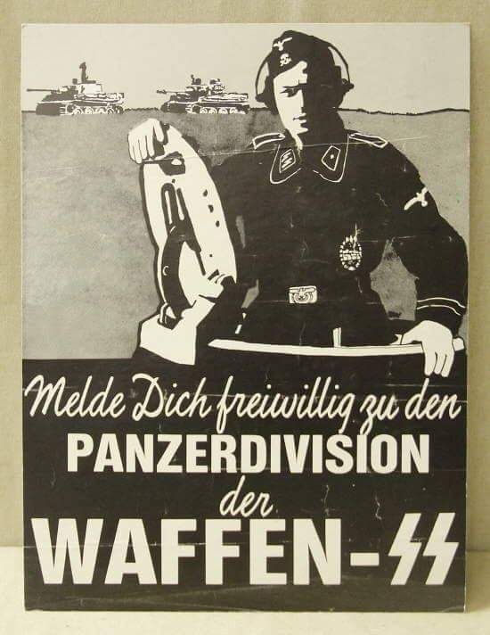 Enlist as a volunteer in the Panzer Divisions of the Waffen SS