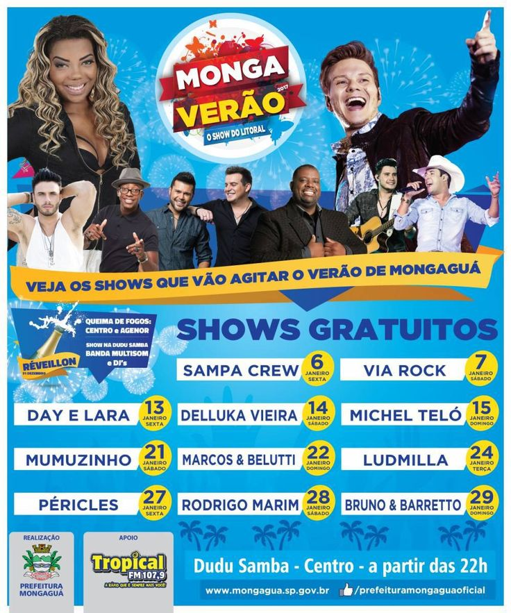 Temporada de shows de verão em Mongaguá começa na Virada de Ano – Prefeitura Municipal de Mongaguá