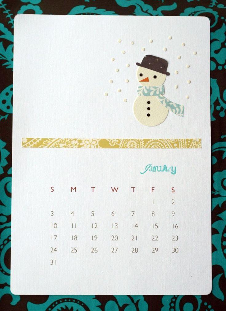 Handmade Calendar With Photos : Handmade calendar paper pinterest drawings