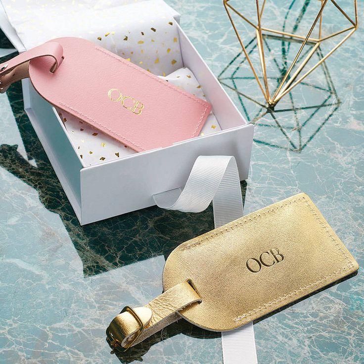 Luxury Leather Personalised Luggage Tag