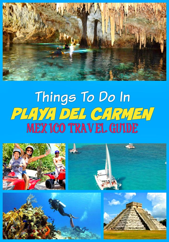 Top fun things to do in Playa Del Carmen on vacation: Archaeology tours, Mayan culture, ATV rides, snorkeling, swimming with dolphins and whales, Cirque du Soleil, and more activities and attractions