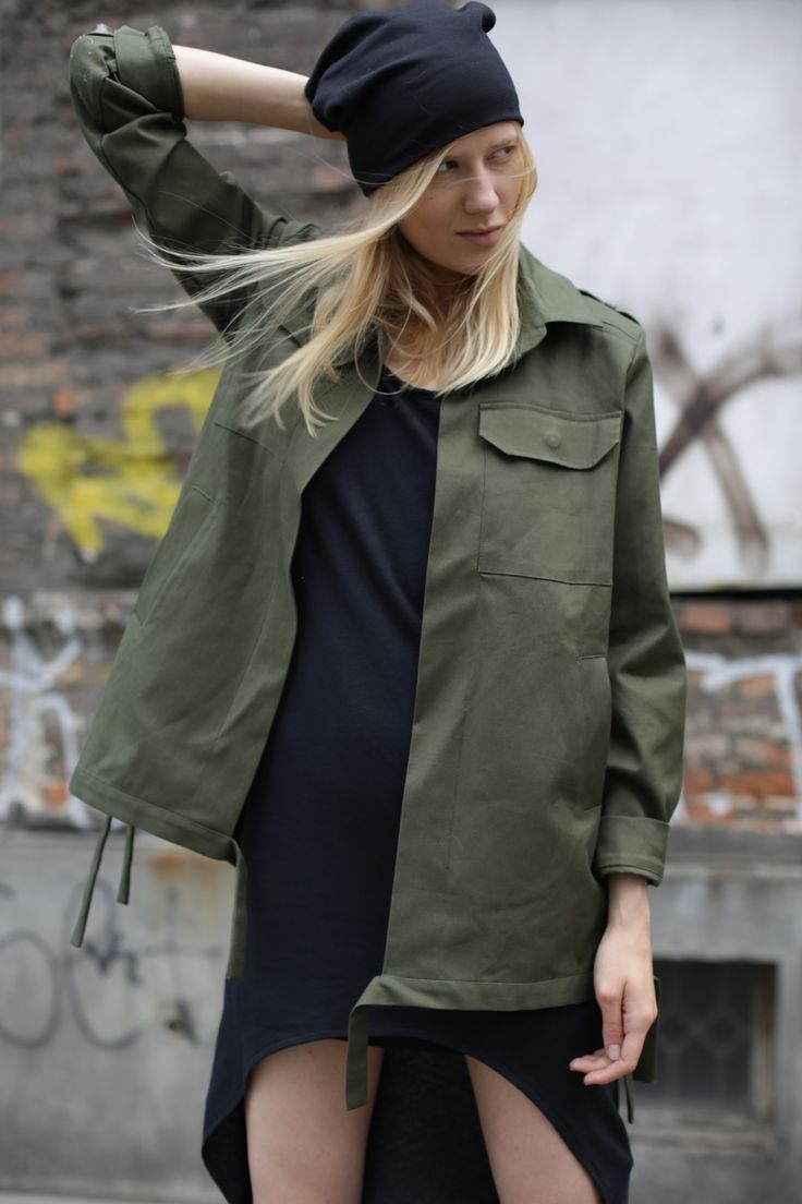 #simi #set #style #grunge #punk #fashion #plaid#beanie#model#girl#inspire#army#jacket#military#khaki