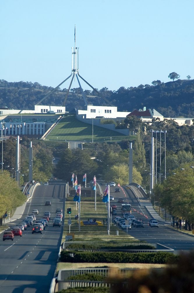 Parliament House Canberra | The Commonwealth Avenue approach road