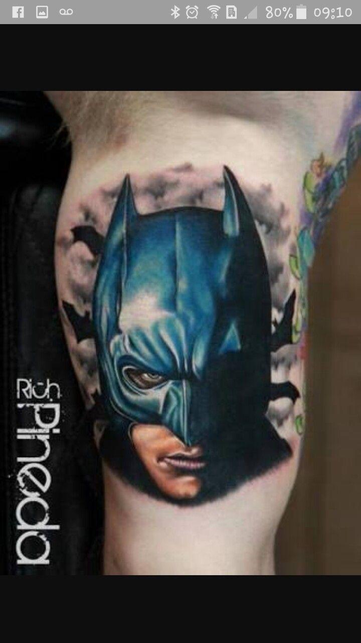 Flaming art tattoo for geek tattoo lovers this kind of batman - Batman Tattoo By Rich Pineda