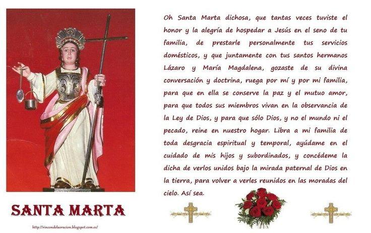 Oración de poder milagroso a Santa Marta Para Amarrar y Dominar a tus pies a tu ser Amado