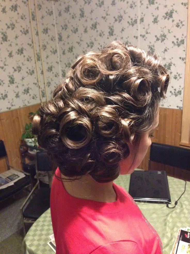 vintage pin curls