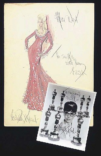 Edith Head/Mae West A costume design for Mae West, circa 1970s, possibly for Sextette