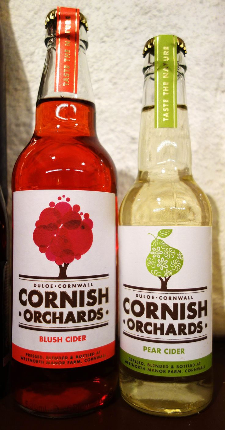 Bottled cider and perry from Cornish Orchards