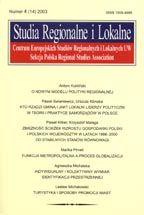 Wydawnictwo Naukowe Scholar :: :: 2003 STUDIA REGIONALNE I LOKALNE nr 4(14)