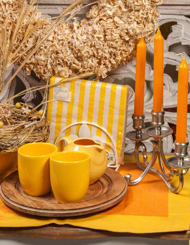 Sunshine Yellow Tea Set @ Chic Ville