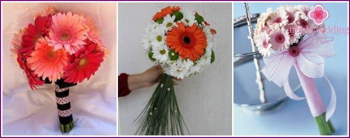 Bryllup bukett med roser - en kombinasjon av alternativer, hvordan å lage dine egne hender, bilder