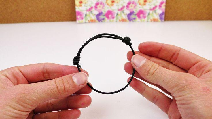 Schiebeknoten binden | Verstellbares Armband selber machen | mit einem L...