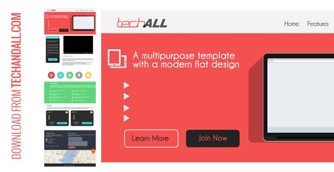 Here is a full template theme we created for you to download, all layers in folder marked properly. This template ideal for one page layout. See the larger preview below and the download link &nb...