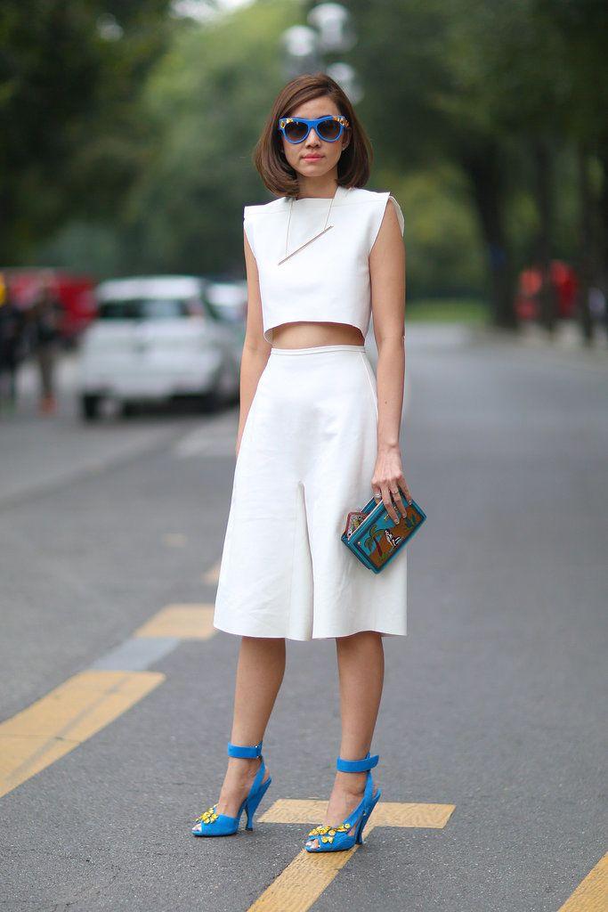 Summer Street Style Inspiration   POPSUGAR Fashion