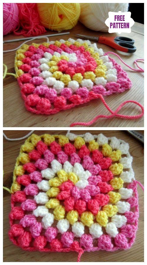 6 DIY Crochet Bobble Stitch Blanket Free Crochet Patterns - Video