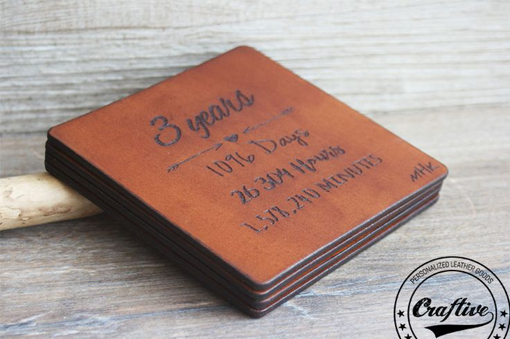 Gift For 3rd Wedding Anniversary: 37 Best Three Year Leather Anniversary Gift Images On