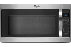Whirlpool - 2.0 Cu. Ft. Over-the-Range Microwave - Stainless-Steel - Front Zoom
