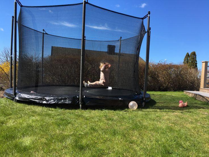 Nedgrävd studsmatta, trampolin