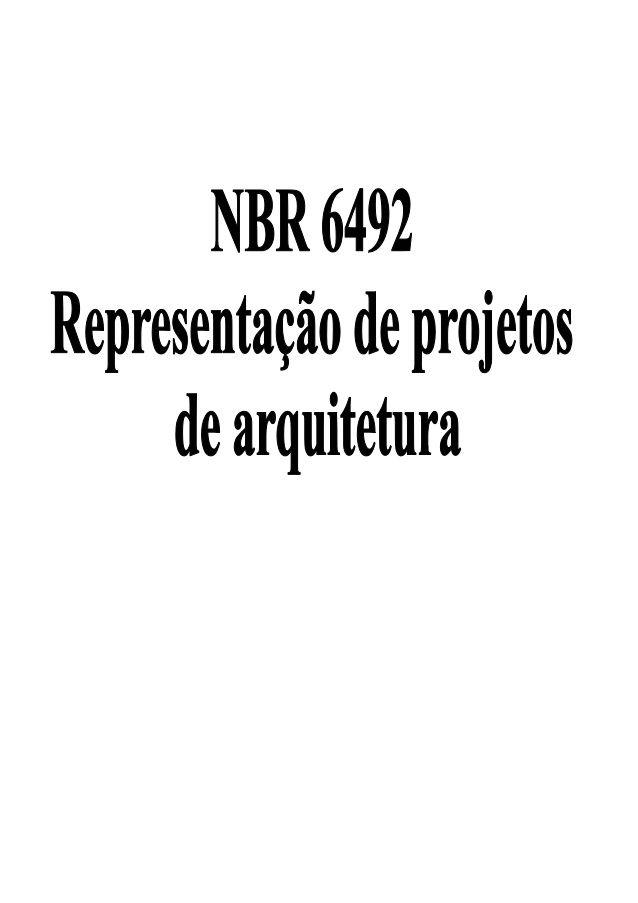 NBR 6492/94 - Representação do Projeto de Arquitetura