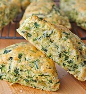 Spinach Artichoke Scones. The BakerMama shares a savory scone recipe that's loaded with spinach, artichokes and cheese.