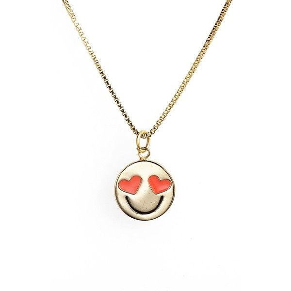kate spade new york 'tell all' emoji pendant necklace found on Polyvore