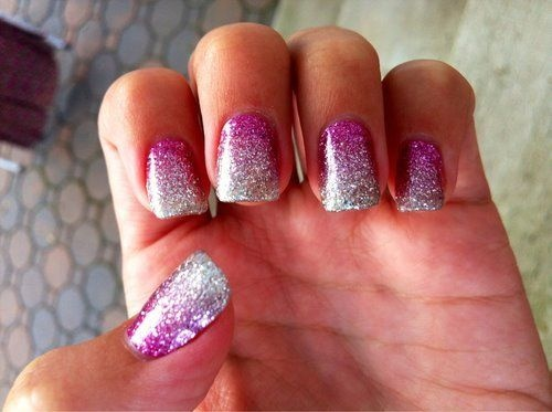 Pretty pink and silver sparkles