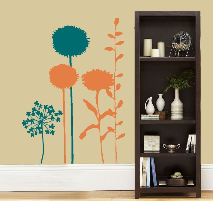 Best Plants Floral Wall Stickers Images On Pinterest Floral - Wall decals nature and plants