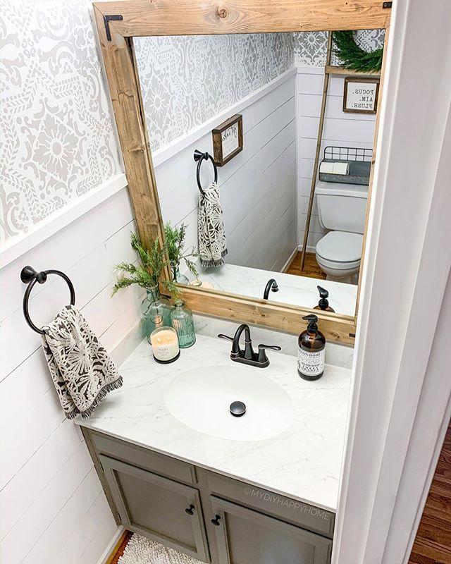 Instagram Small Master Bathroom Bathroom Decor Bathroom Design Organizing newly painted bathroom vanity
