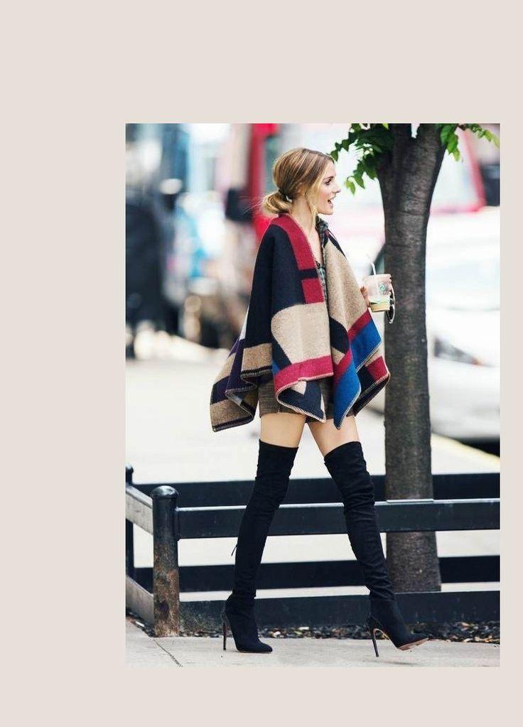Olivia Palermo Runway Catwalk Street Snap Knitted Cardigan
