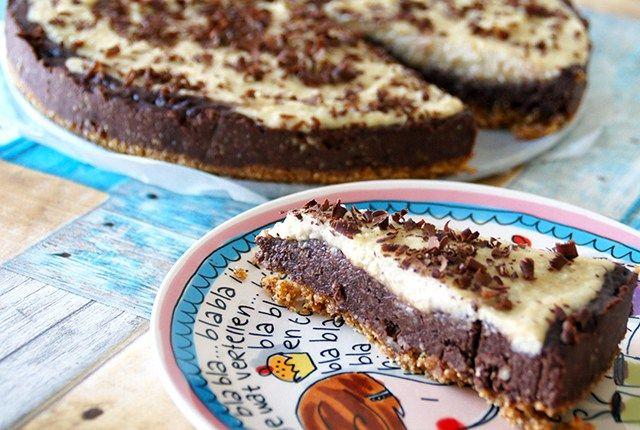 glutenvrije chocolade vanille taart