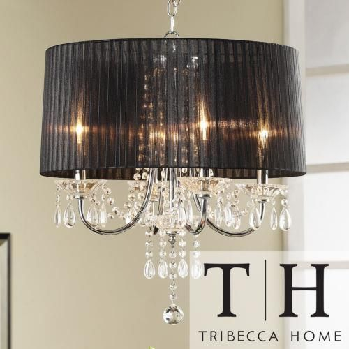 TRIBECCA HOME Noble 4 light Metal Chandelier Ceiling Light Lighting Fixture Iron #TribeccaHome & 32 best LIGHTING CHOICES images on Pinterest   Chandeliers ... azcodes.com