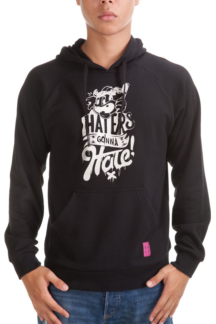 Hater Hoodie Black Rp. 399,000 Available in S, M, L and XL