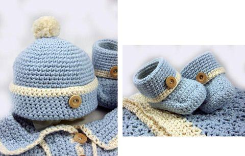 Baby Boy Crocheted Set -- Her stuff is WAY cute!