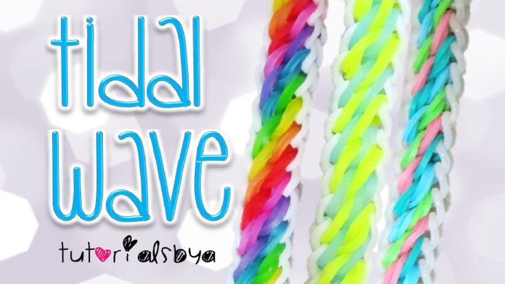 NEW Tidal Wave Rainbow Loom Bracelet Tutorial | How To