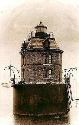 Sandy Point Shoal Maryland MD Sandy Point Lighthouse Antique Vintage Postcard