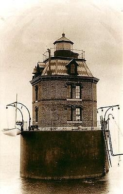 Sandy Point Shoal Maryland MD Sandy Point Lighthouse Antique Vintage Postcard