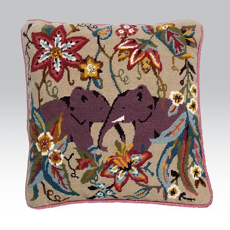 Two Elephants Ehrman Tapestry Needlepoint