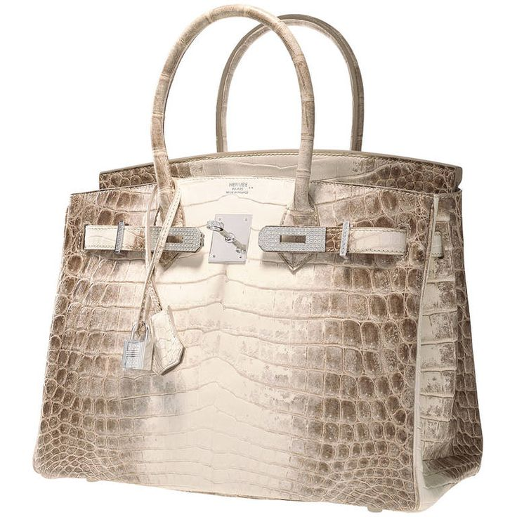 ONE & ONLY HERMES BIRKIN BAG 30cm MATTE HIMALAYAN CROCODILE 18K & DIAMOND | 1stdibs.com