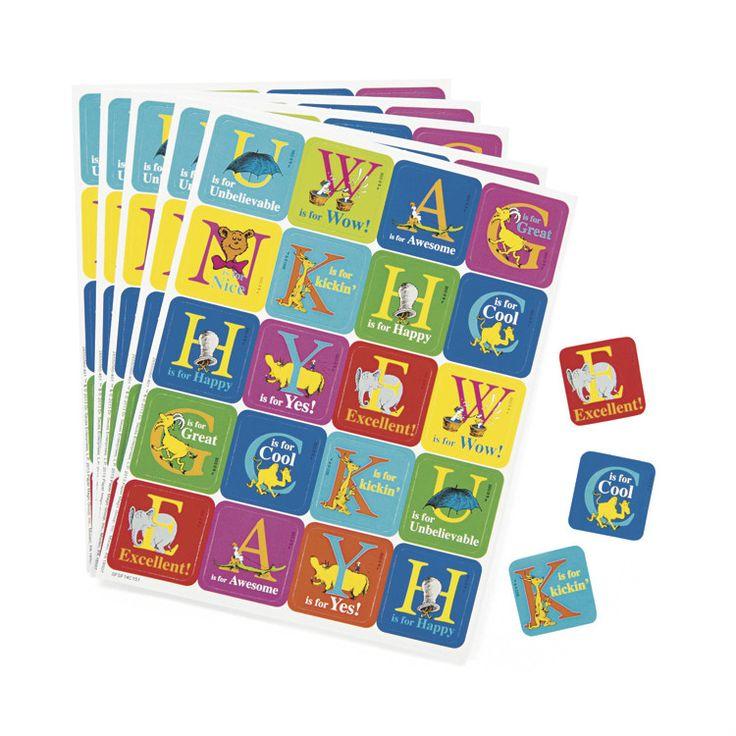 Dr Seuss ABC Stickers, 120 Pack - Dot NZ Shop