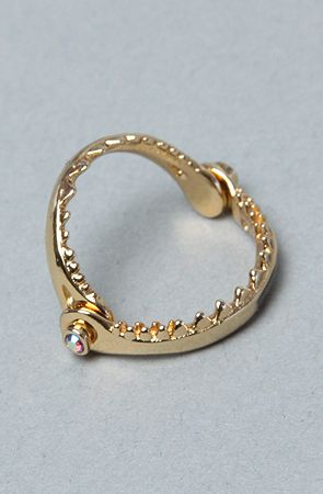 The Little Mermaid Collection Shark Jaw Ring Women's Jewelry By Disney Couture Jewelry