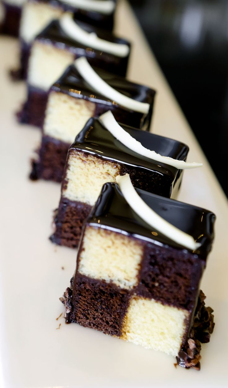 black and white cakes at The Saxon afternoon tea. http://www.saxon.co.za/