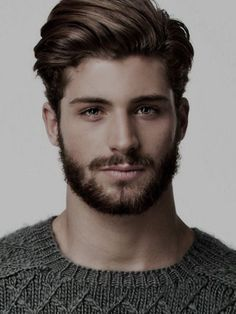 Beard and hairstyle