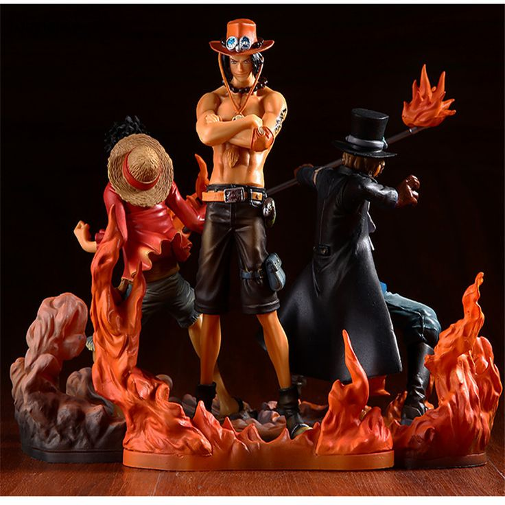 Tobyfancy One Piece Figure Japan Anime Figure Ace Luffy Sabo DXF One Piece Action Figure PVC Cartoon Figurine One Piece Toys  #Affiliate