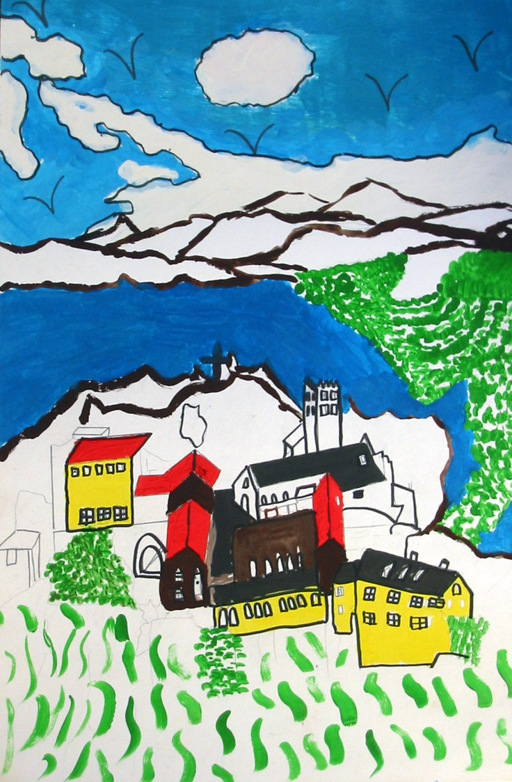 Artwork by Patricia Segura, 15, of our Sister City Perpignan, France reflects the bright sun-drenched colors of the city of Perpignan in the Catalan area of France, and the snow-capped glacial terrain of the nearby Pyrennes. The Sister City artwork was displayed at the Hands of Heritage Fest at the Robarts Arena in 2003