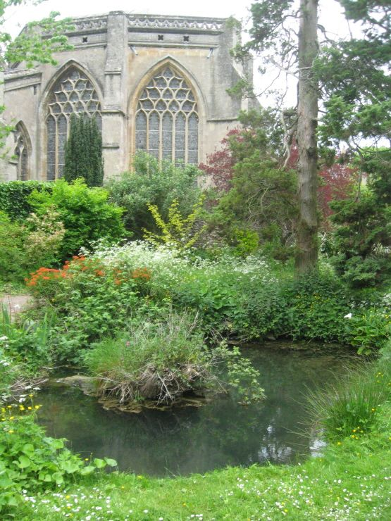 St Andrews Holy Well, behind The Bishop's Palace, Wells, Somerset